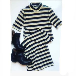 Zara Trafaluc knit dress, stripes size S